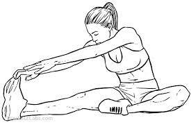 Hold for 30 seconds, concentrate on tilting your pelvis as far forward as possible before reaching towards toe.